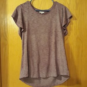 Purple Flowy Sonoma Shirt
